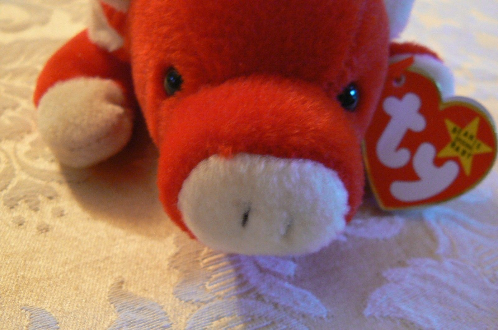 "Vintage Ty Beanie Babies Snort "" The Bull "" Hang Tag/Tush Tag 1995 image 2"