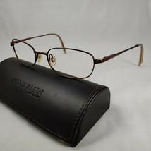 ANNE KLEIN Eyeglass Frames Metal AK6112 Full Rim Sunglasses Burgundy Brown - $17.96