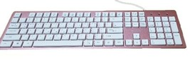 iRiver Korean English Keyboard USB Wired Membrane Cover Skin Protector (Pink) image 2