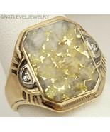 Antique Ostby & Barton RARE Gold in Quartz & Diamond 10k Solid Gold Men'... - $2,470.05
