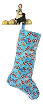 Clownfish Christmas Stockings, Fish Xmas stocking, Lined Holiday Sock - $17.00