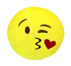Emoji Throwing A Kiss Plush with Sound - $8.21