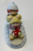 Cabbage Patch Kids 1984 Porcelain Figurine Christmas Kids Sleigh..Signed - $4.99