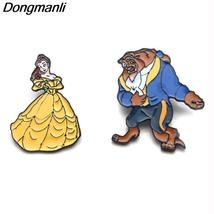 Beauty and the Beast  Metal Enamel Pins and Brooches for Fashion Lapel Pin Backp - $10.99