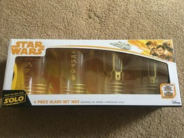 Disney Star Wars Solo Lando Calrissian Pint Glass Set, 4 Piece Collection - $39.19