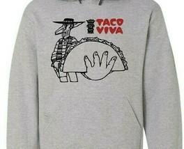 Taco Viva Hooded Sweatshirt vintage retro design 70s 80s fast food cotton blend image 2