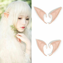 Short Prosthetic Fairy Pixie Elf Ear Halloween - 1x w/Random Color and Design image 8