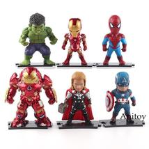 Marvel COMICS Super Heroes Iron Man Captain America Spiderman Thor Actio... - $40.99