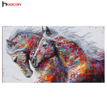 HUACAN Diamond Painting Horse Kits Handmade Needlework DIY Diamond Embro... - $47.00