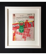 "Mixed Media Collage: Laundry & Cola 8"" x 10"" (Framed to 13"" x 15"") - $100.00"