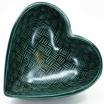 Vaneal Group Hand Carved Kisii Soapstone Green Heart Decorative Candy Bowl Kenya