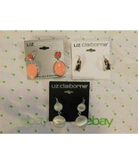Liz Claiborne Women's Round Oval & Gold Drop Earrings 3 Pair All NEW - $39.60