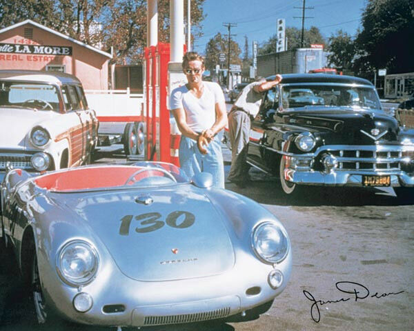 James Dean Poster 24 x 36 inches Rebel Without a Cause Porsche Spyder Signature