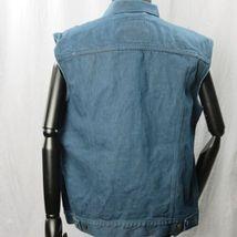 Levis Camionero Denim sin Mangas Jean Jacket XL Color Azul Índigo 4 Bolsillos image 3