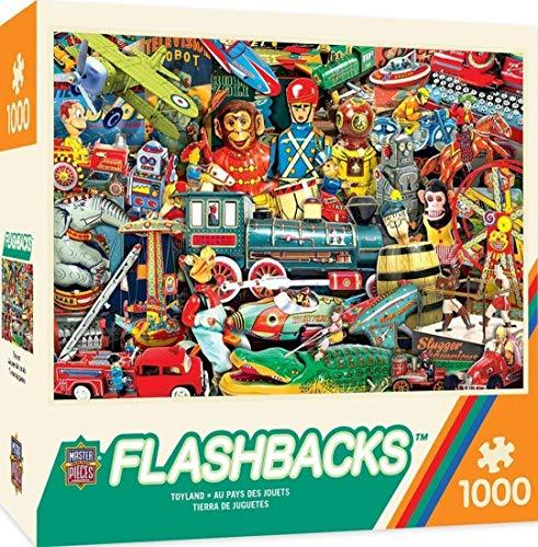 MasterPieces Flashbacks Linen Jigsaw Puzzle, Toyland, 1000 Pieces - $10.71