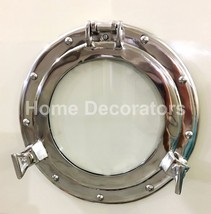 "Solid Vintage 11"" Ships Porthole Glass Nautical Round Wall Window Home D... - $44.63"