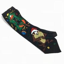 Looney Tunes Mania Mens Neck Tie Taz Daffy Duck Christmas Tree Lights Vi... - $10.97