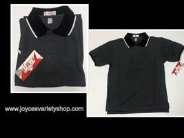 BAW Athletic Wear Polo Shirt Men's XS Black & White Short Sleeve - $8.99