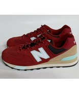 New Balance 574 Size 9 Mens Classic, Red, ML574JHQ - $49.45