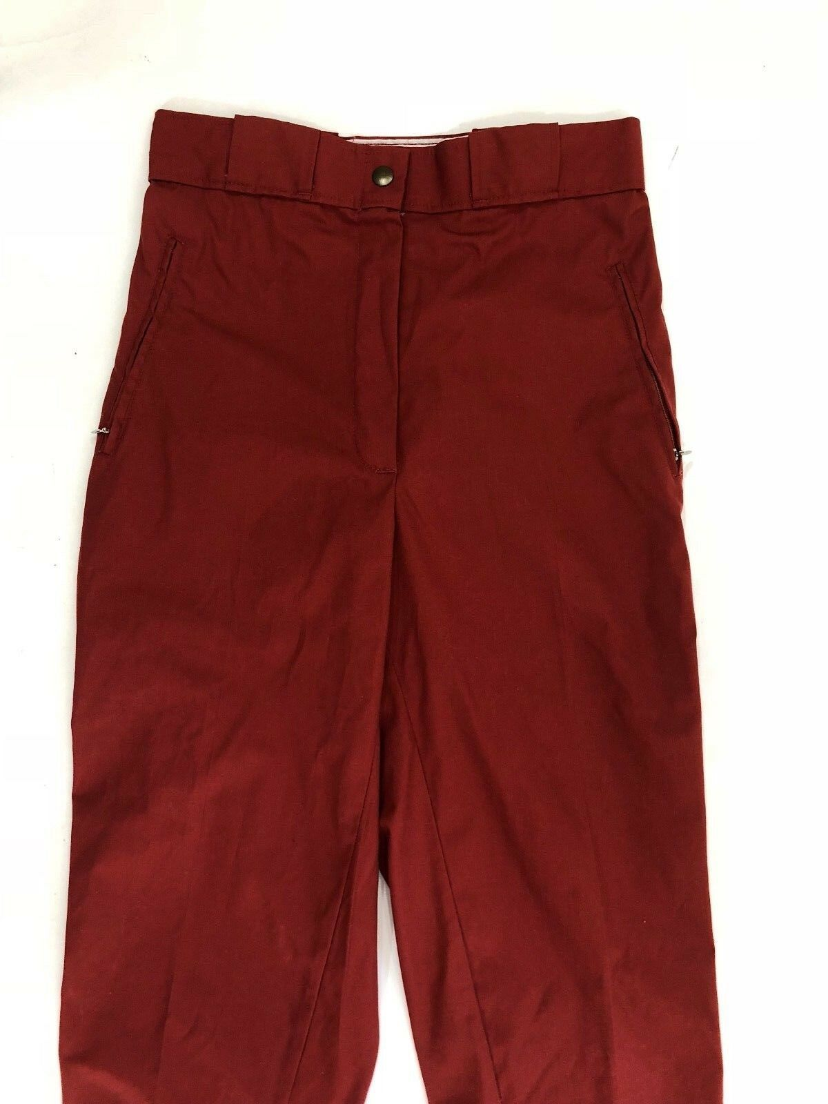 VTG 70s Sunbuster Womens Size 28 Cropped Ski Pants Knickers Brick Red image 3