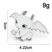 Dragon White Toothless Pin Game Anime Lapel Brooch Cosplay Jewlery - $10.99