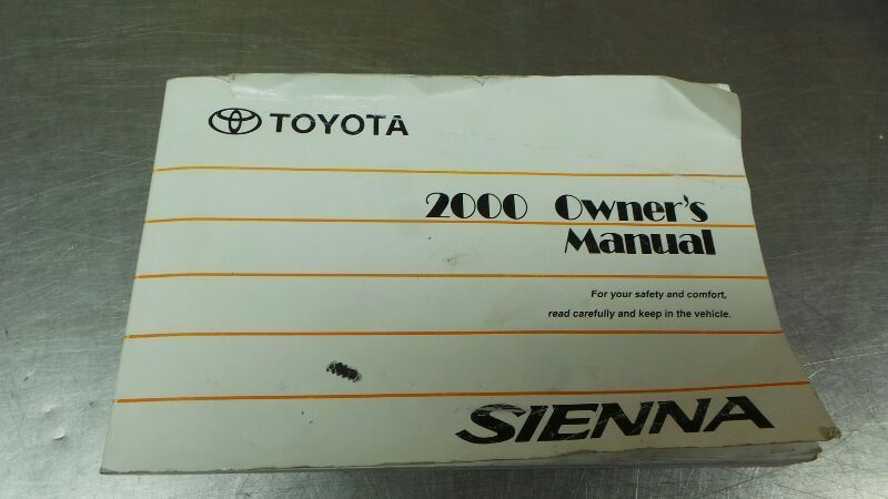 2000 Toyota Sienna 285 Page Owner's Manual  82872 - $14.95