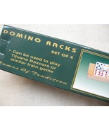dominoes racks holders Four Wood Racks Dominos Free Shipping USA - $36.95