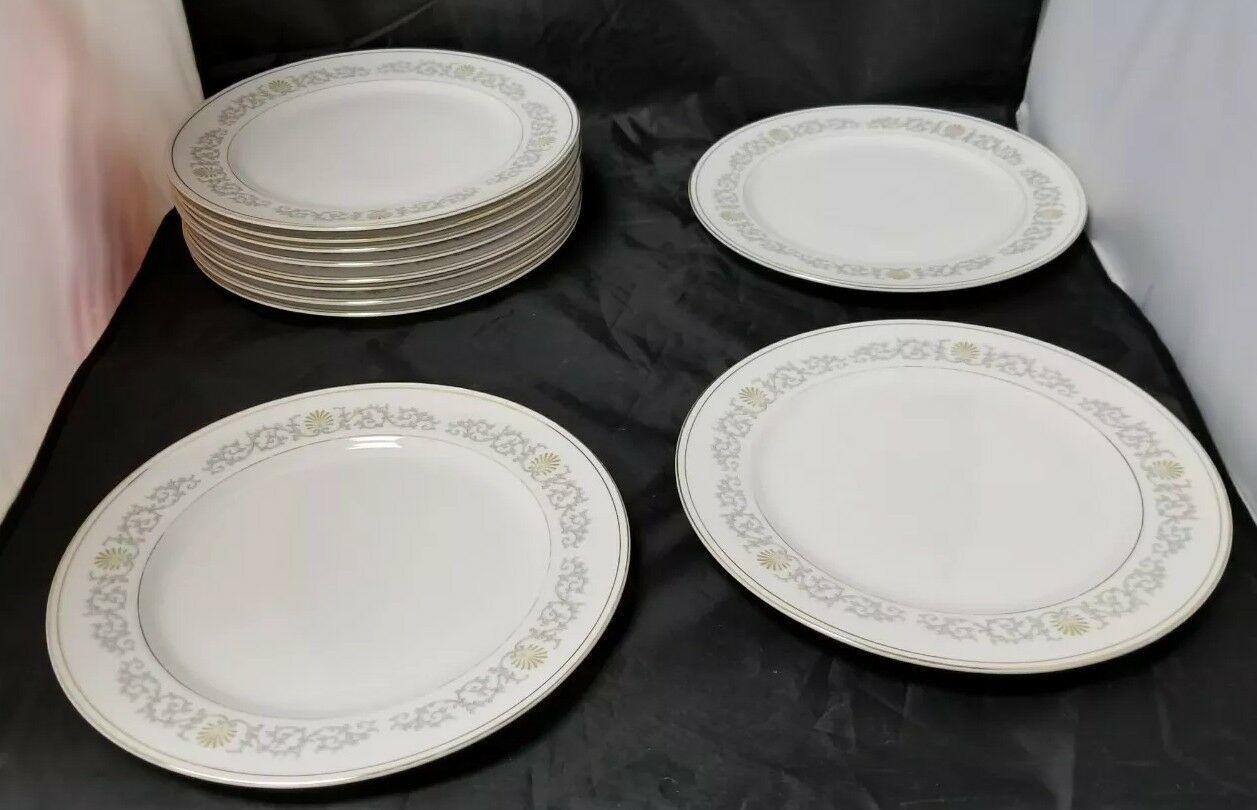 Rose China: 71 Piece Set, Joyce 2104, White w Gold Trim, Fine China, Japan image 2