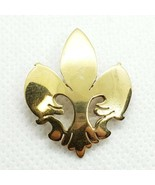 Estelle 18k On Sterling Silver 925 Fleur De Lis Brooch Pendant Combo - $14.84