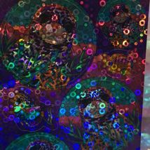 Lisa Frank Prism Rhinestone Holographic Bubble Sticker Mod SKEETER RAINBOW SEAL image 3