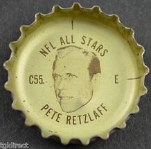 Coca Cola NFL All Stars Bottle Cap Philadelphia Eagles Pete Retzlaff Coke Soda - $6.99