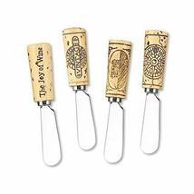 """Supreme Housewares Vintage Wine Cork Resin Cheese Spreaders Set of 4, 5""""... - $18.53"""