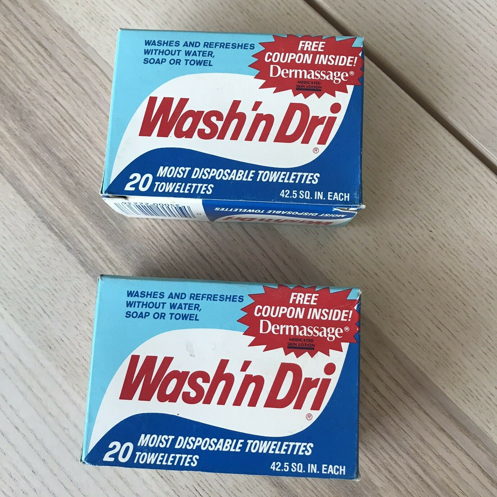 Primary image for Vintage Wash 'n Dri Moist Disposable Towelettes Lot Of 2 Boxes Please Read Descr