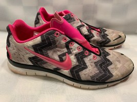 Nike Free TR Fit 3 Running Shoes Women's Size 9.5 M Pink Black 555159-015 - $17.81