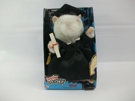 Gemmy Dancing Hamster Grad Celbration Open Box Works Crackly - $14.26