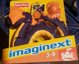"""FISHER PRICE IMAGINEXT 9"""" MYTHICAL PURPLE AND ORANGE SEA SERPENT DRAGON - $39.99"""