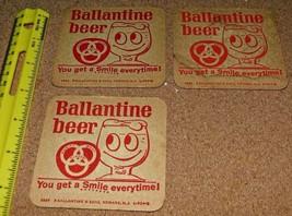 3 different vintage Bar Beer Coaster sets Ballantine, Piels and Bud Free... - $11.87