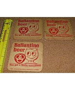 3 different vintage Bar Beer Coaster sets Ballantine, Piels and Bud Free... - $9.90
