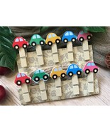 picture drawing wooden Clips,Pin Clothespin,Birthday Party Favor Decorat... - $3.20+