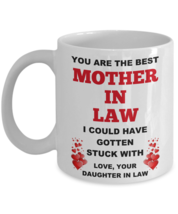 Funny Wedding Gift For Mother In Law Mother Of Bride From Daughter In Law Mug - $14.95