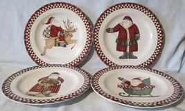 Sakura Debbie Mumm Santa's Spirit Salad Plate set of 4 - $32.56