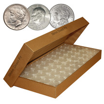 25 Direct-Fit Airtight 38mm Coin Capsules For MORGAN / PEACE / IKE DOLLA... - $9.46