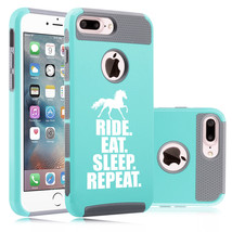 For iPhone X SE 5 6 6s 7 8 Plus Shockproof Hard Case Horse Ride Eat Slee... - £11.41 GBP