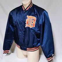 VTG Starter Satin Jacket Detroit Tigers MLB 90's Coat 80's Original Scri... - $89.99