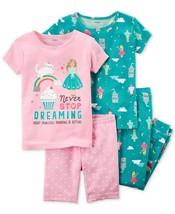 4-Pc. Dreaming Princess Cotton Pajama Set Baby Girls Carters Short & Long 18 M - $29.69