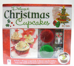 HINKLER DELUXE CHRISTMAS CUPCAKES KIT HOLIDAY CHRISTMAS ACCESSORY - $15.95