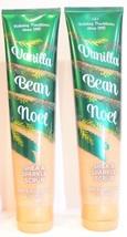 2 Bath & Body Works Holiday Vanilla Bean Noel Shea & sparkle Scrub 6.1 oz NEW - £12.42 GBP