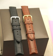 New Gucci 17 MM Genuine Crocodile Watch Band - Black or Brown - Reg - (17.130GC) - $54.95