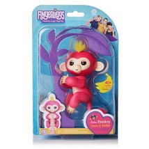 Fingerlings Interactive Baby Monkey Bella  Pink w/ Yellow Hair - $14.99