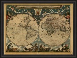 Artwork Early Map of the Earth BCBL New SC-745 FREE - $949.00